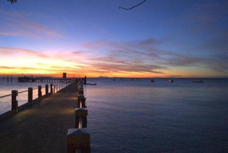 グリーン島 夕陽