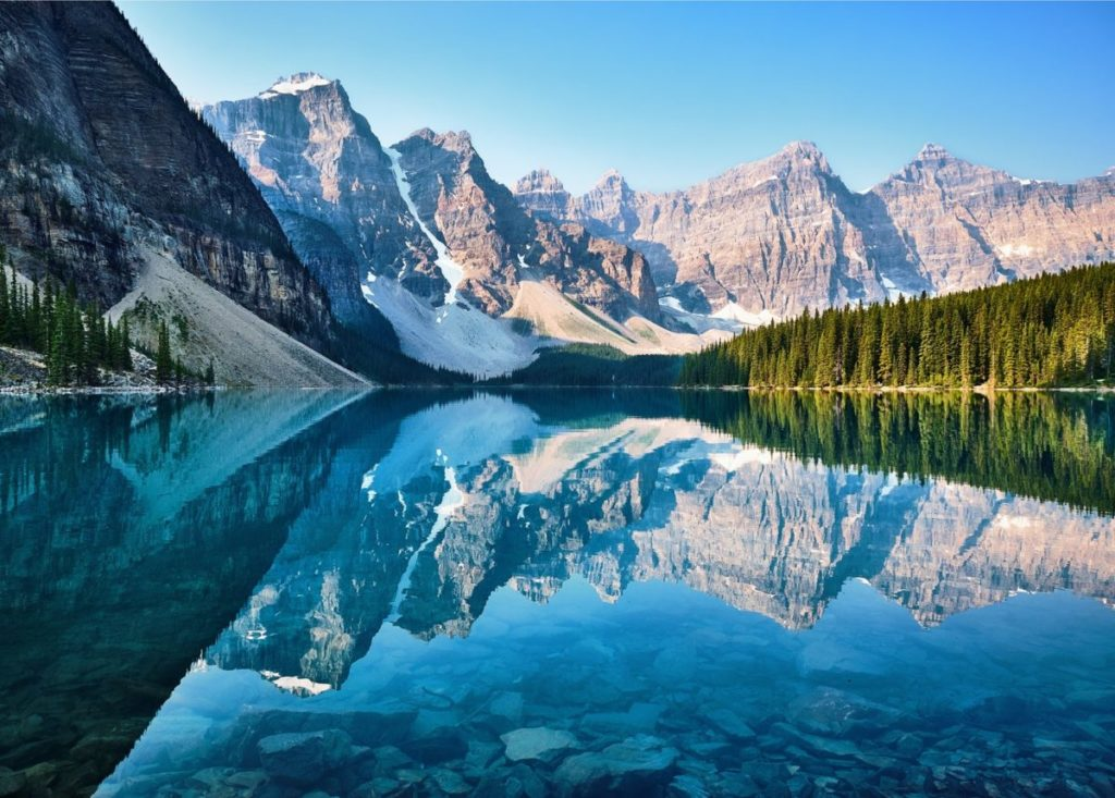 カナダ バンフ 観光 モレーンレイク